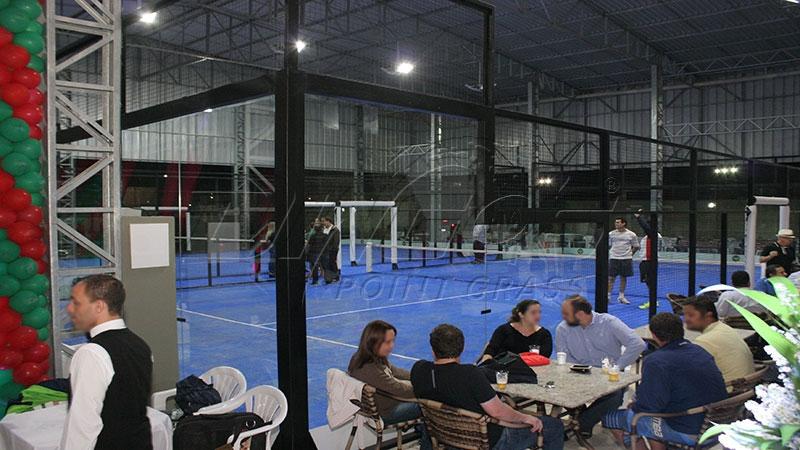 8501dc3b18 Itamirim Clube de Campo inaugura as quadras de padel com grama ...
